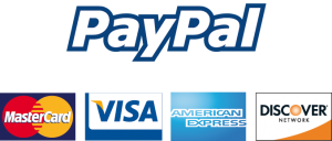 Pay with PayPal, Visa, Mastercard, AMEX, and Discover